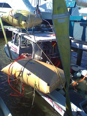 3/5/08 Fire Boat Sinks in Storm