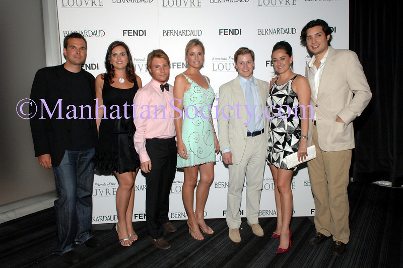 Gustaf Demarchelier, Channing Norton, David Chines, Kellie Carey, Kipton Cronkite, Jen Bell, Herve Larretche attend AMERICAN FRIENDS OF THE LOUVRE'S Young Patrons Circle: Soiree au Louvre  Tuesday, June 24, 2008, 9 p.m.-Midnight, ESPACE, 635 West 42nd Street, New York City, NY. PHOTO CREDIT:Copyright ©Manhattan Society.com 2008 by Christopher London | tel:Private |e-mail: ChrisLondon@manhattansociety.com