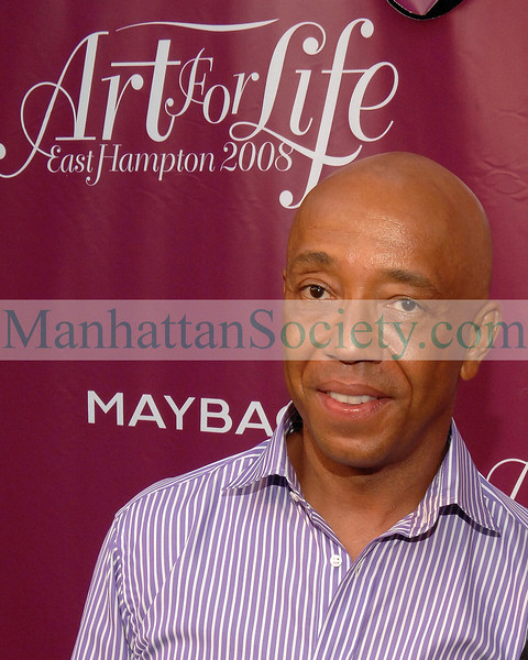 Russell Simmons attends 9th Annual Art For Life East Hampton 2008 Benefit at Simmons East Hampton, New York Estate. PHOTO CREDIT:Copyright ©Manhattan Society.com 2008 by Christopher London