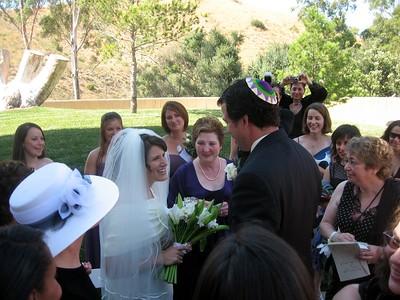 Avram greets his bride