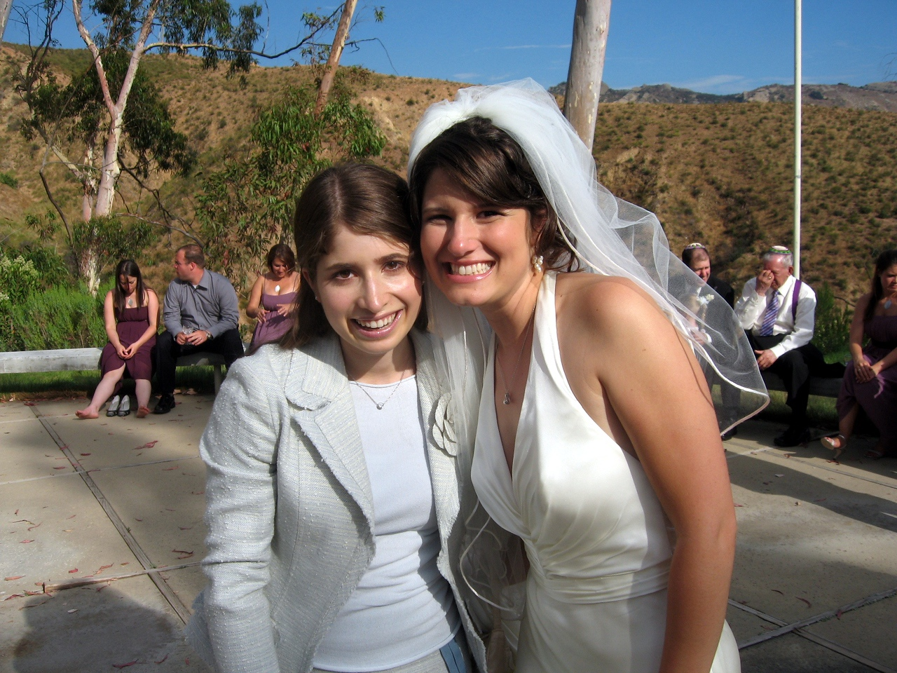 Adeena (cousin of the bride) and Abby