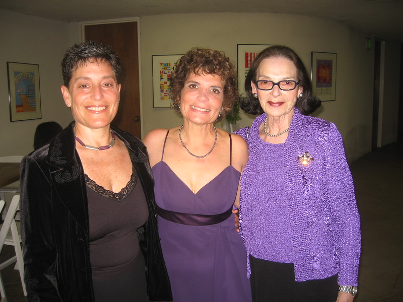 Hope (mother of the bride, center) with sister Jamie and mother Bernice