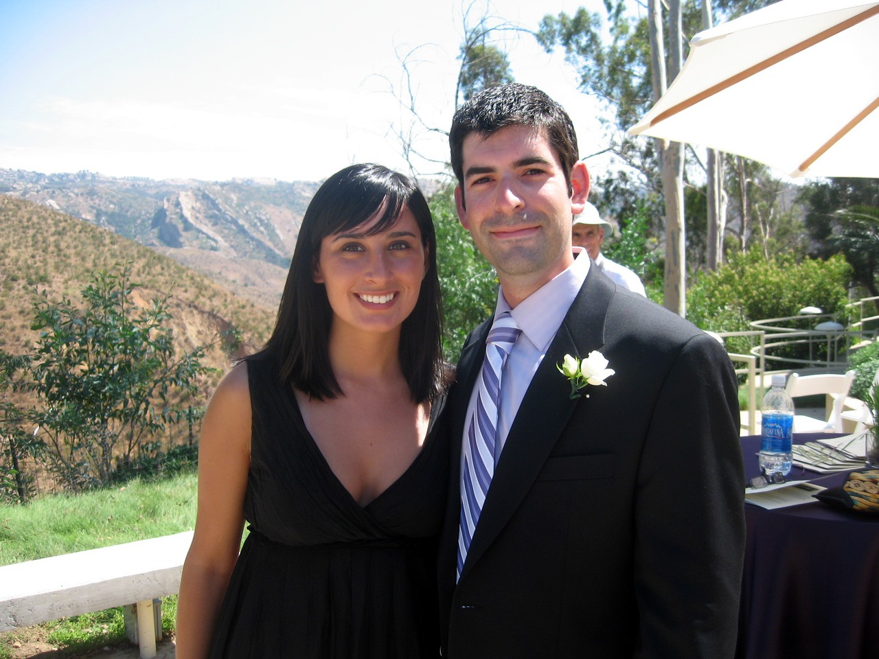 David (brother of the bride) and girlfriend Amber