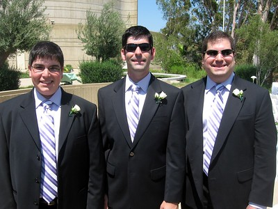 Jordan (l), David, and Craig (brothers of the bride)