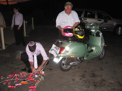 David and Eric prepare the Vespa