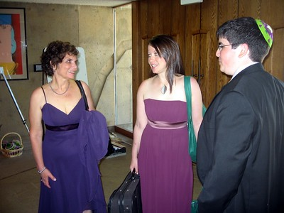 Hope (mother of the bride), bridesmaid Rebecca, and Jordan (brother of the bride)