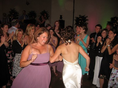 Abby dances with bridesmaid Courtney