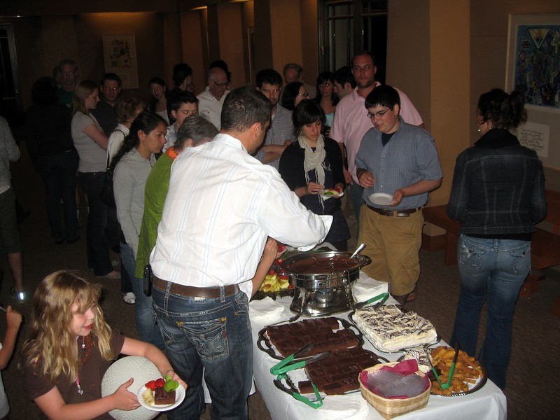 Dessert reception prior to talent show
