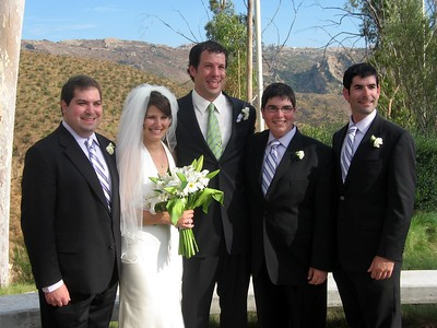 Abby and Avram with brothers of the bride Craig (l), Jordan, and David