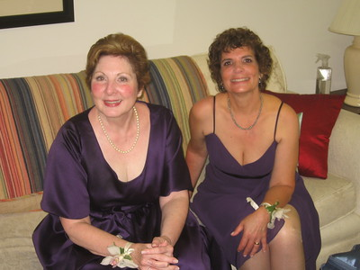 Pat (stepmother of the groom, left) and Hope (mother of the bride)