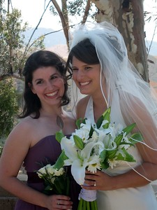 Abby with bridesmaid Vicki