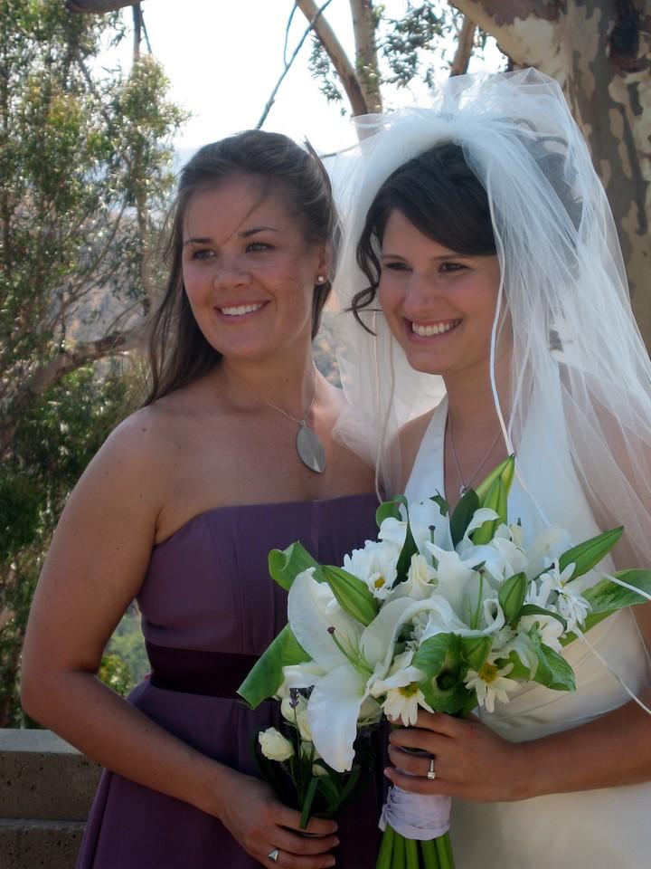Abby with bridesmaid Sarah