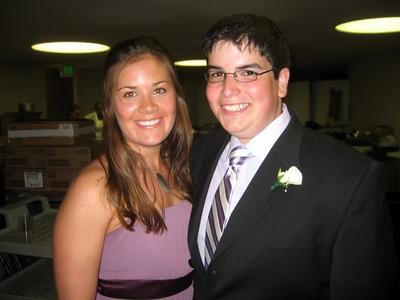 Bridesmaid Sarah and Jordan (brother of the bride)