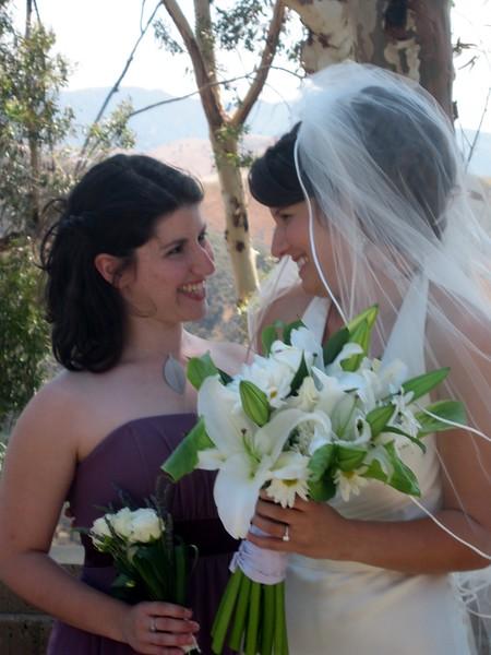 Abby with bridesmaid Vicki