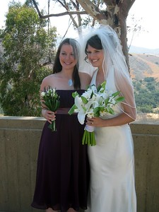 Abby with bridesmaid Rebecca