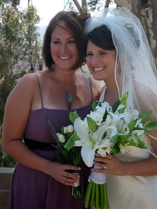Abby with bridesmaid Courtney