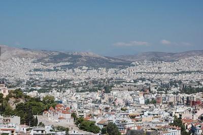 Greek cityscape - Marguerite Vera