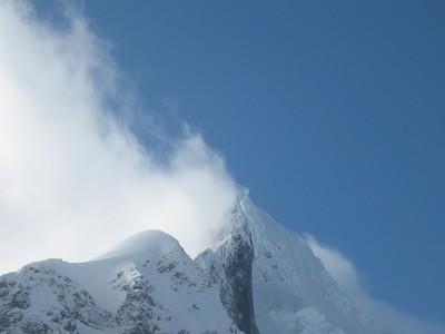 misty mountaintop