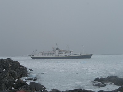 Endeavour in brash ice - Andrew Gossen