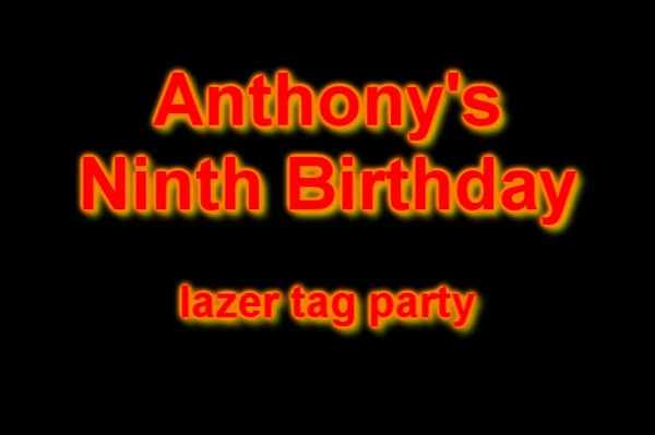 Anthony's Ninth Birthday Video