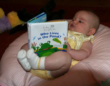 Already a bookworm!