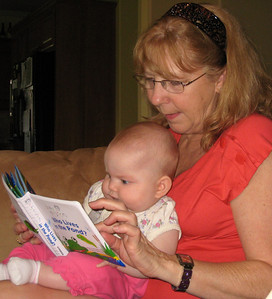 Grandma reading to Anna
