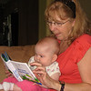 Grandma reading to Anna