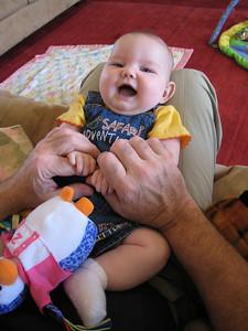 Grandpa making her giggle