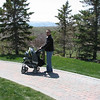 Look at Dustin - the pro at pushing a stroller!