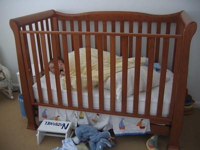 Last nap in the crib.