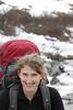 Tracy Borland, enjoying the Alaskan outdoors completely