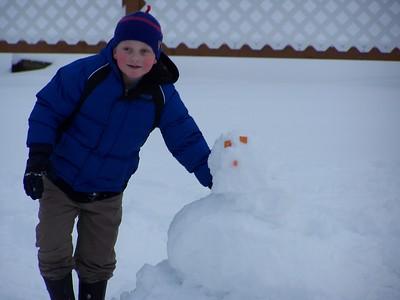 Noah and his snowman