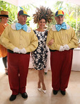 Chairwoman Annie Falk with Tweedledee and Tweedledum