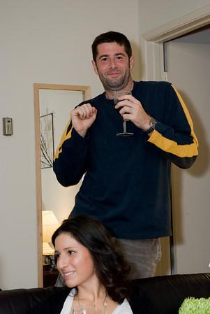John showing us his dancing skills --- when it's not Irish dancing it's funny!
