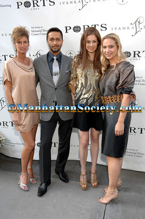"""NEW YORK-MAY15:Christina Smith, Tony Alcindor, Stephanie La Cava, Amy Raiter Dwek attend The Associates Committee of The Society of Memorial Sloan-Kettering Cancer Center's Spring Party: """"Safari at Sunset"""" Sponsored by Ports 1961 on Thursday, May 15 2008 at Gustavino's, 409 East 59th Street, New York City, NY. (Photo Credit: ©Manhattan Society.com 2008 by Christopher London)"""
