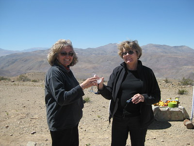 Lucy & Sue enjoying Pisco Sours - Kimberly Collins