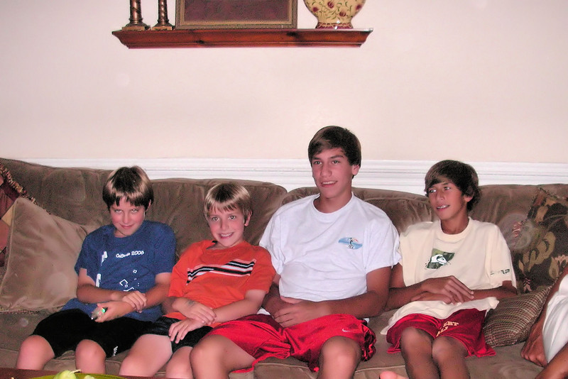 The Mafale boys with Jacob and Anthony