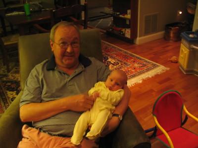 Grandad gets comfy