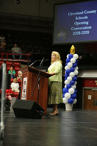 The 2008-2009 Cleveland County Schools opening convocation and awards presentations.