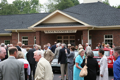 Ribbon cutting and official opening of Frank Nanney Hall; August 28, 2008.