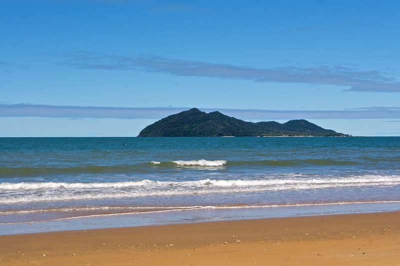 Dunk Island, seen from Mission Beach, on the mainland of Queensland.