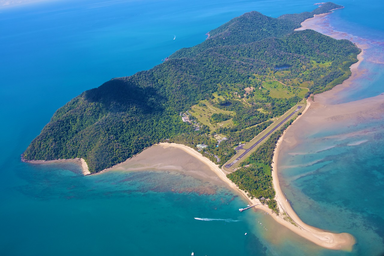 Dunk Island from the air.