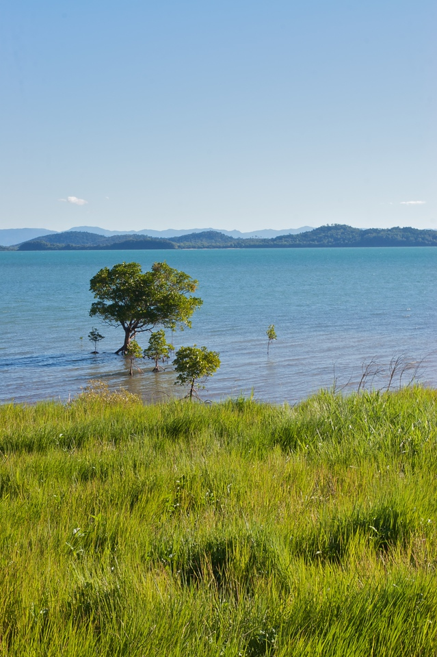 Looking back at mainland Queensland from Dunk Island.