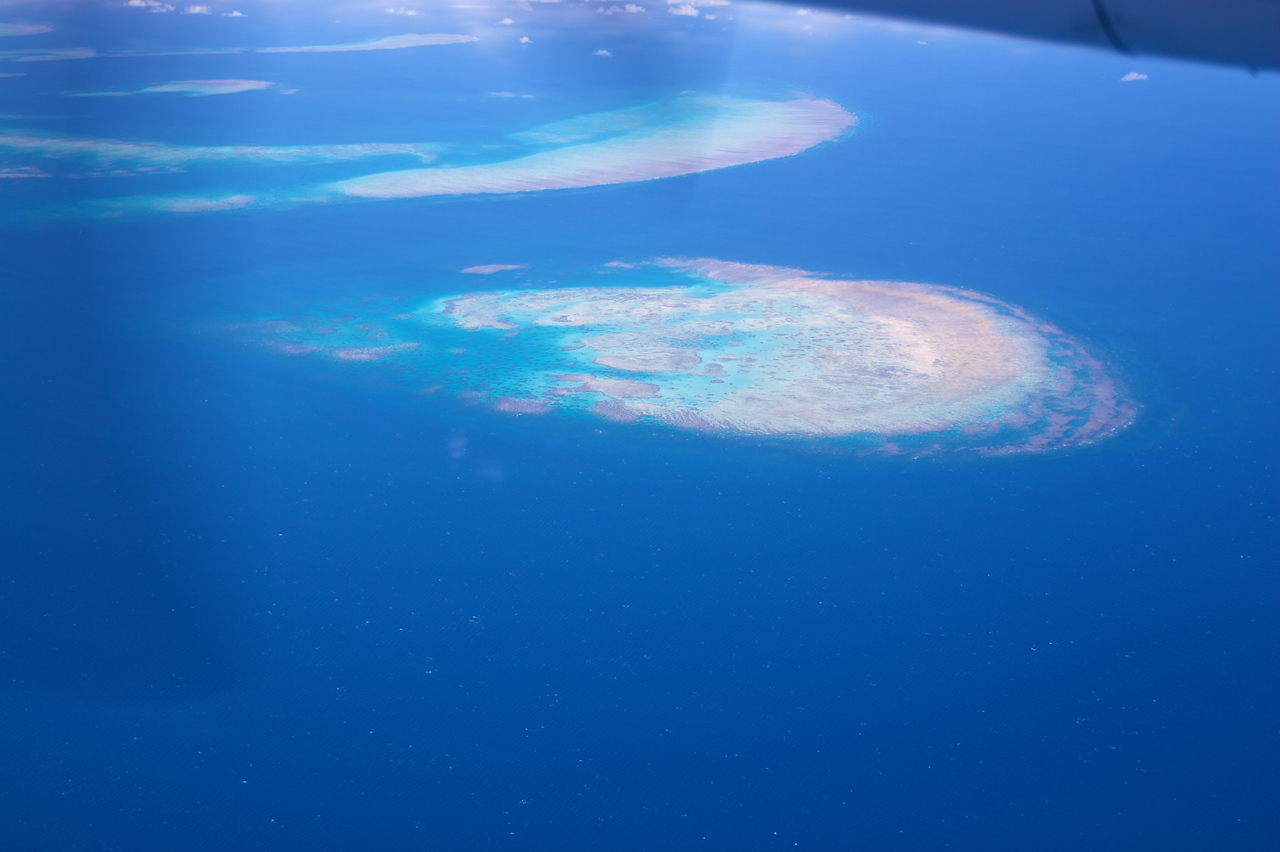 Shoals on the Great Barrier Reef.