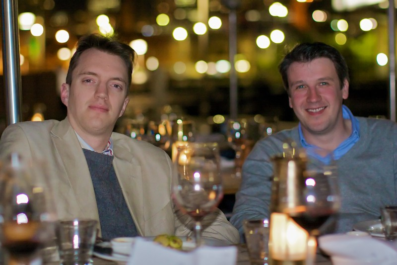 Thomas and his friend Ben John, at the dinner we held for him (Thomas) in Woolloomooloo on the Tuesday before his wedding.