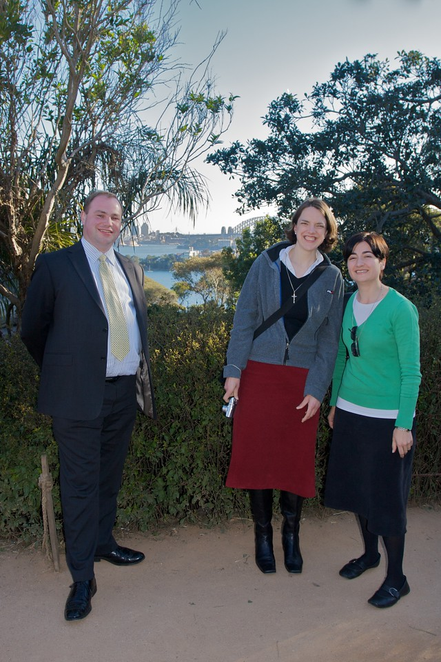 Simon Gillespie, Elizabeth, and Ana Maria at Taronga Zoo on the day after Thomas' and Mary's wedding.
