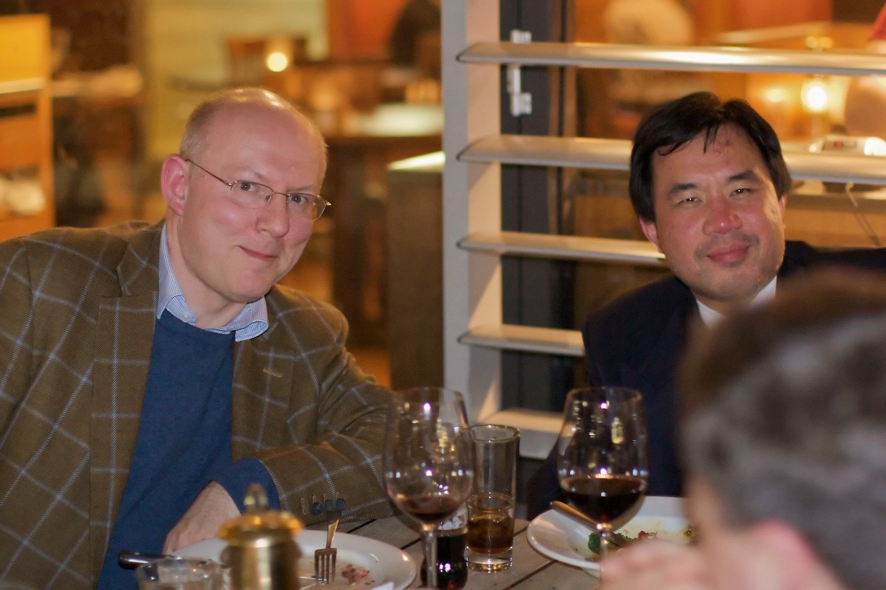 Philip and Phuong, at the dinner we held for Thomas in Woolloomooloo on the Tuesday before his wedding.