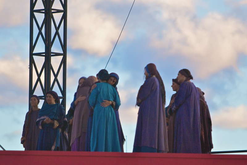 The weeping women at the Stations of the Cross for the World Youth Day in Sydney.