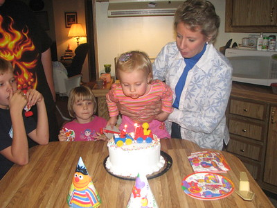Blowing out candles is fun!