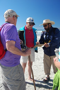 Learning about the finds on the beach - Marguerite Vera